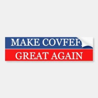 Make Covfefe Great Again Bumper Sticker