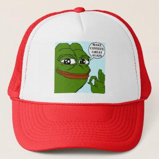 Make Covfefe Great Again Pepe A-Ok Ball Caps Red