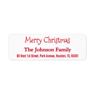Make Create Custom Merry Christmas Return Address