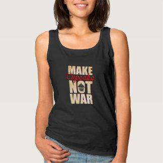 Make cupcake not war tank top