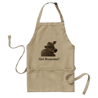 Make delicious brownies with a real brownie. standard apron
