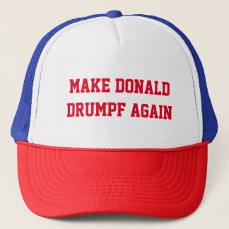 MAKE DONALD DRUMPF AGAIN TRUCKER HAT