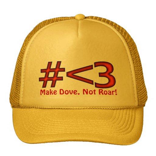 Make Dove, Not Roar! Love Channel Mesh Hats