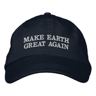 Make earth great again embroidered hat
