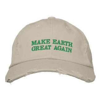 Make Earth Great (and green!) again Embroidered Hat