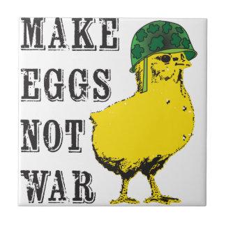 Make Eggs Not War Tile