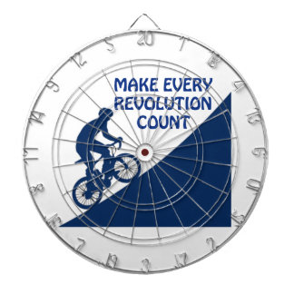 Make every revolution count dartboard