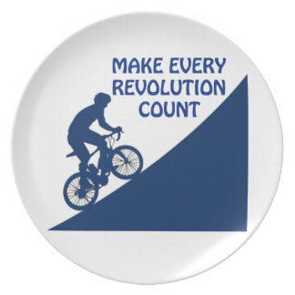 Make every revolution count plate