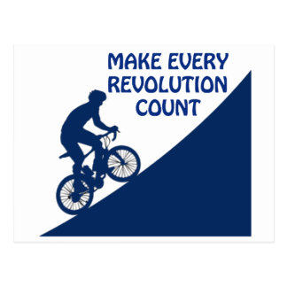 Make every revolution count postcard