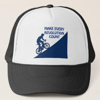 Make every revolution count trucker hat