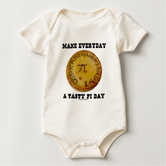 Make Everyday A Tasty Pi Day (Pi On Baked Pie) Baby Bodysuit
