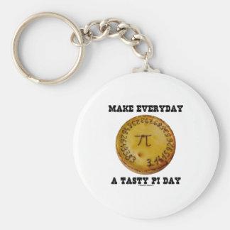 Make Everyday A Tasty Pi Day (Pi On Baked Pie) Basic Round Button Keychain