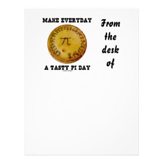 Make Everyday A Tasty Pi Day (Pi On Baked Pie) Letterhead Design