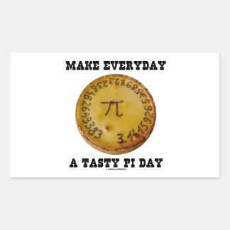 Make Everyday A Tasty Pi Day Pi On Baked Pie Rectangular Sticker