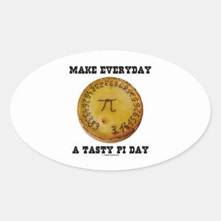 Make Everyday A Tasty Pi Day Pi On Baked Pie Oval Stickers