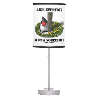 Make Everyday An Open Source Day Earth Day Java Table Lamp