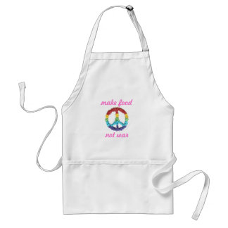 """Make Food, Not War""--women's Standard Apron"