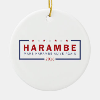 Make Harambe Alive Again Ceramic Ornament