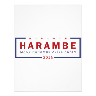 Make Harambe Alive Again Letterhead