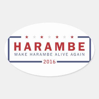 Make Harambe Alive Again Oval Sticker