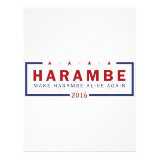 Make Harambe Alive Again Personalized Letterhead