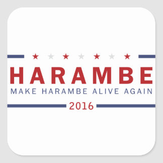Make Harambe Alive Again Square Sticker