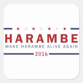 Make Harambe Alive Again Square Sticker