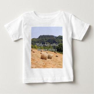 Make hay while the sun shines hay bales,Spain Baby T-Shirt