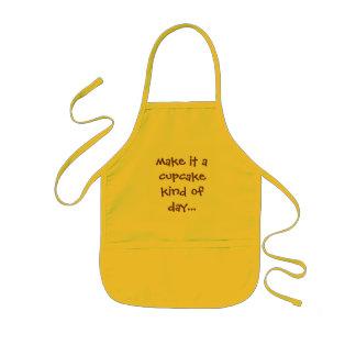 make it a cupcake kind of day... kids apron