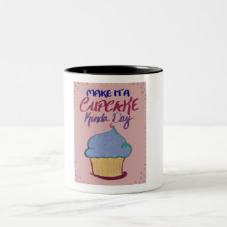 Make it a Cupcake Kinda Day: two tone mug! Two-Tone Coffee Mug