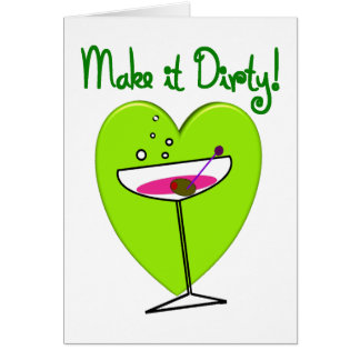 Make it Dirty--Martini Lovers Gifts Cards
