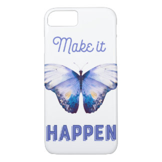 Make It Happen Ipone Case 7 With Blue Butterfly