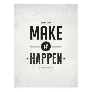 Make it Happen - Postcard