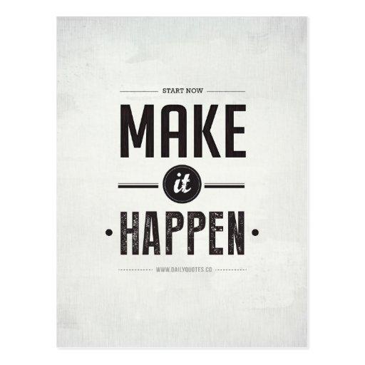 Make it Happen - Postcard