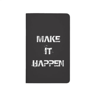 Make It Happen | Success Pocket Journal Notebook