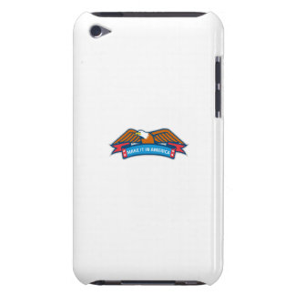 Make It In America Banner Eagle Retro iPod Touch Case-Mate Case