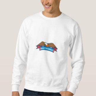 Make It In America Banner Eagle Retro Sweatshirt