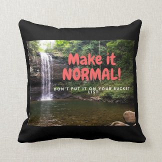 Make it Normal! Throw Pillow