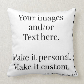 Make it personal Ready to customize Pillow
