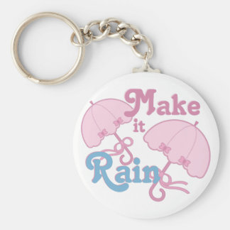 Make It Rain Basic Round Button Keychain