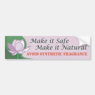 Make It Safe - Make It Natural Bumper Sticker