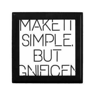 Make it simple. gift box