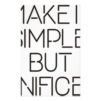 Make it simple. stationery
