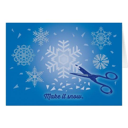 Make it Snow Holiday Card