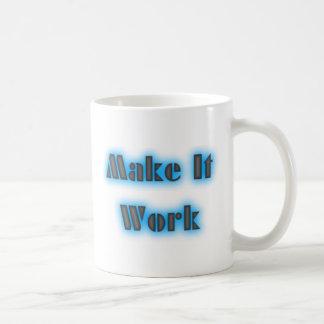 Make It Work Blue Mug