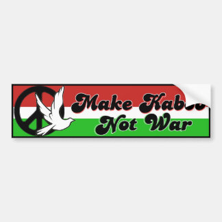 Make Kabob Not War bumper sticker