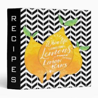 Make Lemon Bars Custom Cookbook with Recipe 3 Ring Binder