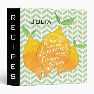 Make Lemon Bars Custom Cookbook with Recipe Binder