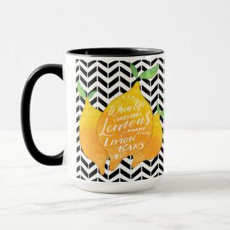 Make Lemon Bars with Black Chevron Mug