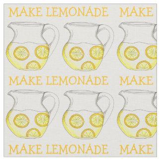 Make Lemonade Glass Pitchers w/ Lemons Fabric